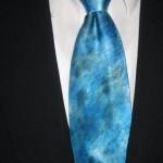 Naomi's son's tie closeup